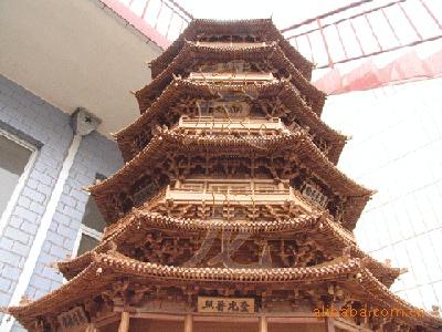竹质工艺品 木雕工艺品  释迦佛塔形体设计来源于应县佛宫寺释迦木塔