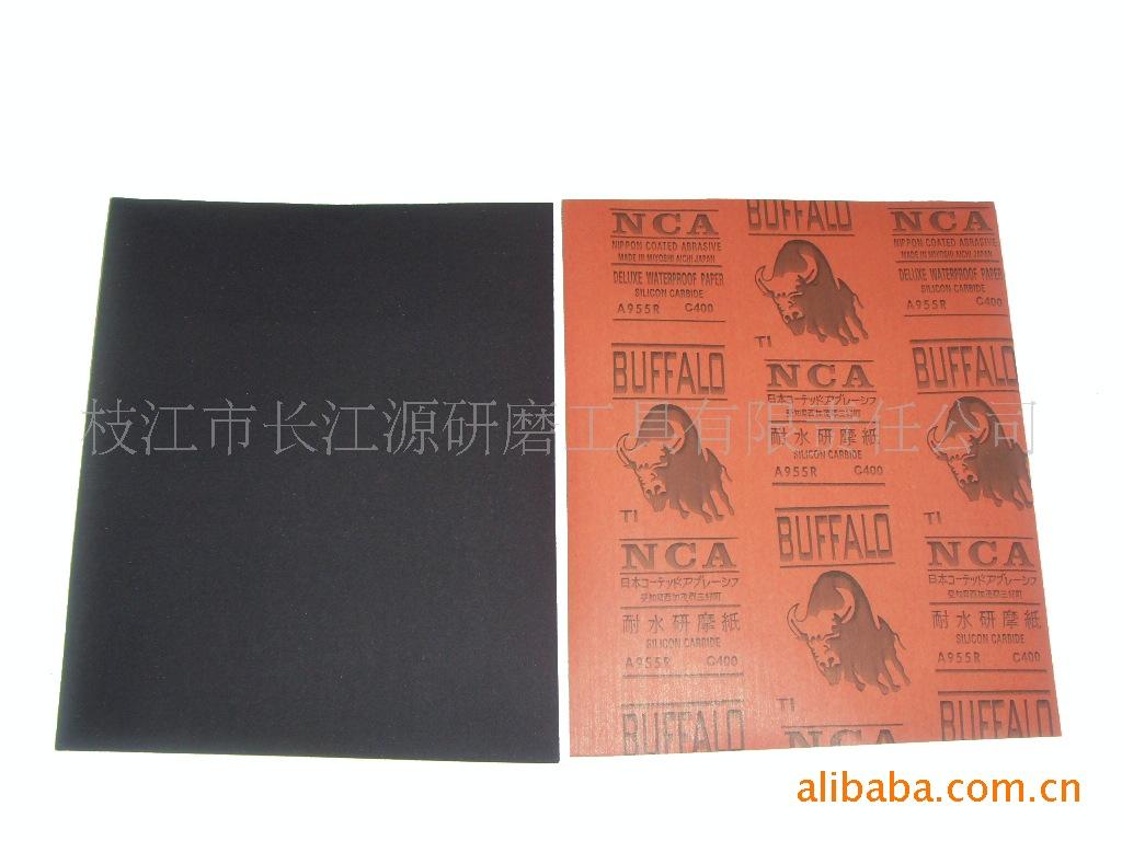 厂家直销 9*11寸国产牛皮纸碳化硅耐水砂纸