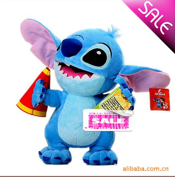 星际宝贝之史迪奇史迪仔手拿喇叭喊话款 动漫玩具 毛绒玩具