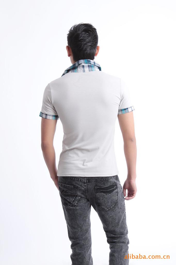 外贸品牌男装T恤批发 男式短袖翻领T恤 -价格,厂家,图片,男式T恤