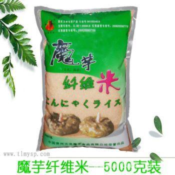 无糖食品 天龙魔芋米 膳食纤维食品 减肥魔芋米 普通纤维  5kg