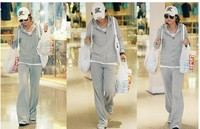 Женские толстовки и Кофты 2012 autumn casual plus size clothing sportswear lounge with a hood sweatshirt autumn set