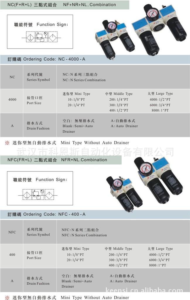 供应台湾山耐斯 尼尔森NFC-200两联件