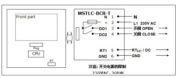 mstlc比例积分控制器接线示意图