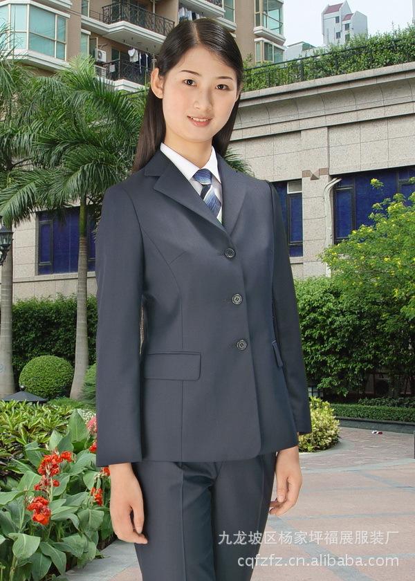 女职业装劳保服体恤衫西服夹克衬衣