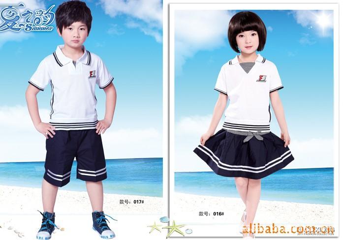 里童装厂家批发儿童校服 儿童套装校服 学校演出服来样加工批发采