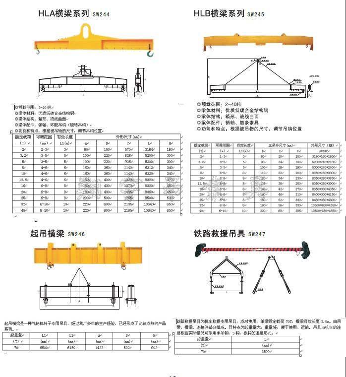 【多款优质起吊厂家铁路v厂家吊具图纸直销欢层结构横梁砖混加图片