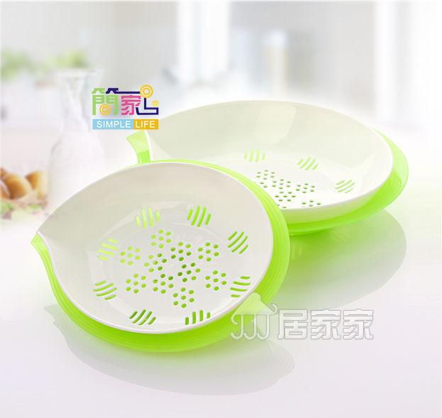 【塑料滴水优质厂家蔬菜水果盘直销盘韩式圆楼宇智能控制系统图片