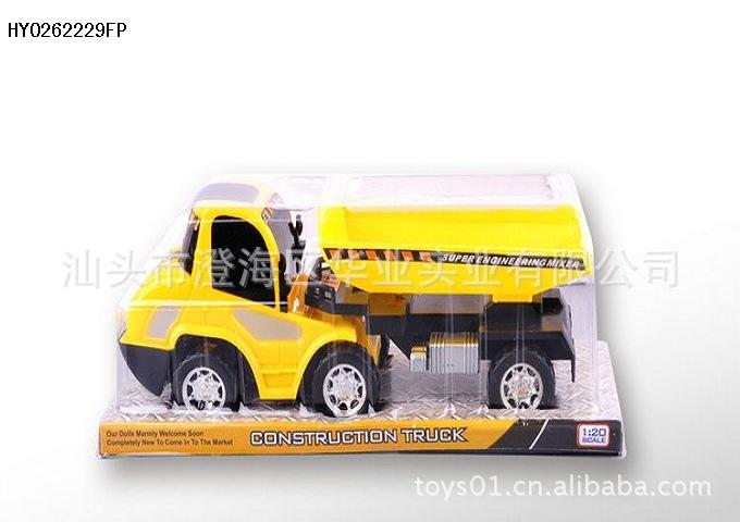 供应儿童益智模型玩具 仿真惯性东风大货车工