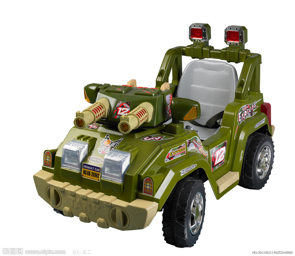 坦克玩具车电动翻斗车儿童玩具灯光歼击战车玩