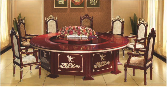 实木家具餐桌酒店家具电动家具自动家具自动圆
