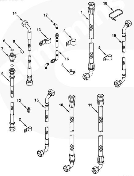 KTA38柴油机软管3638079用于工程机械设备发动机SO66223