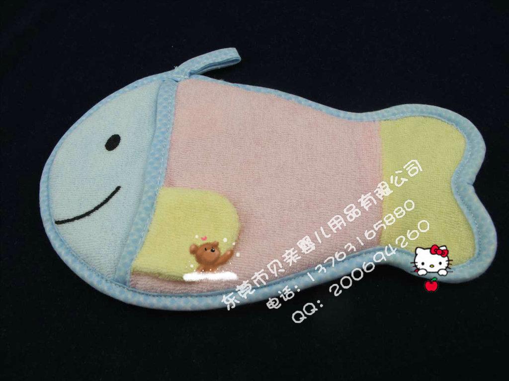 帽子/品名:婴儿宝宝鱼形沐浴擦