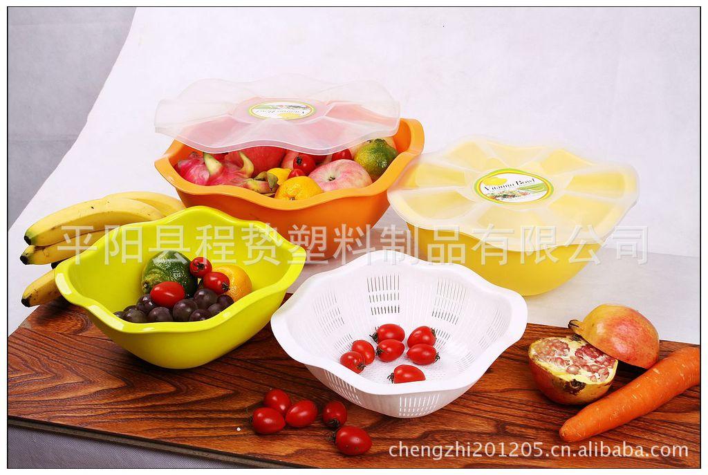 日韩正品 专利护航 程贽GS-221米筛果蔬清洗蓝、果品盘