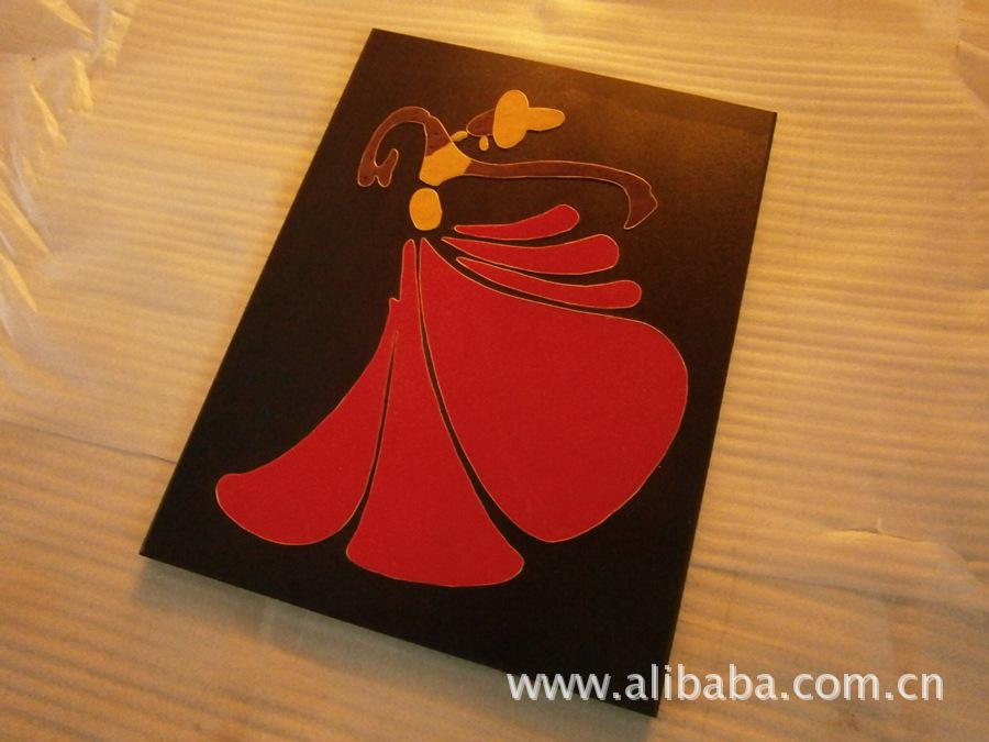 【抽象立体年货装饰画龙年少女喜庆舞者a立体《42漫画》邻家吉祥话图片
