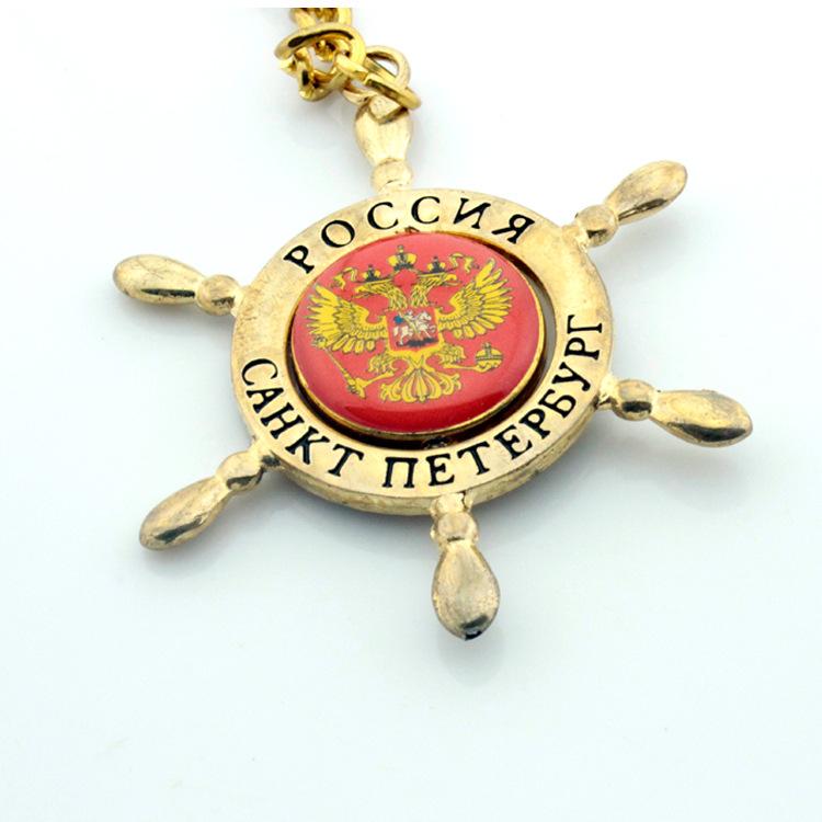 专业生产俄罗斯旅游纪念品创意船锚金属钥匙扣钥匙圈厂家定做 - 义乌市丽丰工艺品 - 义乌市丽丰工艺品