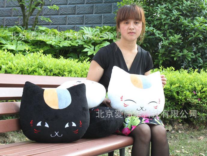 北京工厂 现货直销 夏目友人帐猫咪老师 猫先生靠枕 抱枕
