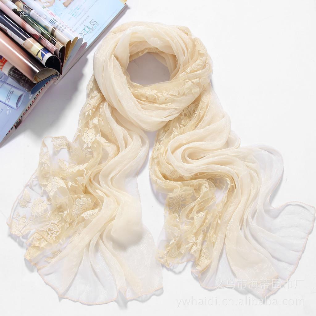 全新上市秋夏 围巾 拼接厂家和超舒适手感批发经典双层面料工艺图片_5