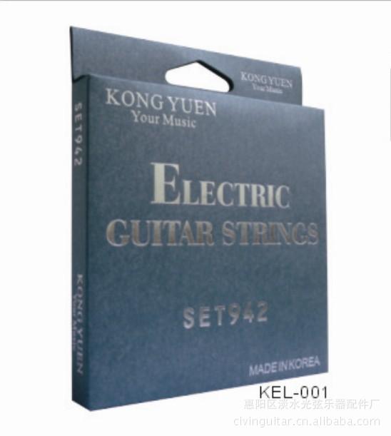 混合弦吉他谱五线-KongYuen KEL 001电 吉他弦 线 手感舒
