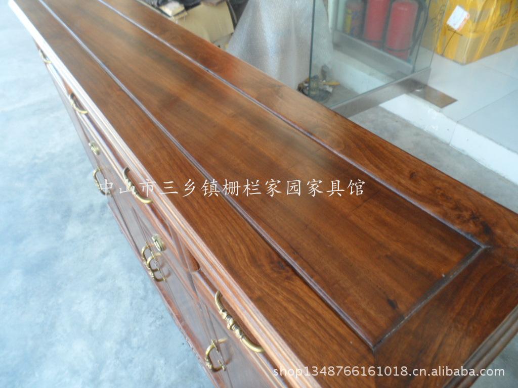 【简欧式实木家具香物流边柜储物柜餐边樟木大连家具图片
