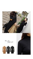Потребительские товары Sales And Korean Dresses New Fashion 2013 Autumn Black Elegant Long Sleeve Turtleneck Career Casual Dress N83778