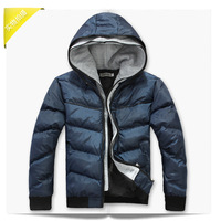 Мужской пуховик Men's double layer cap wadded jacket thickening thermal Coats faux two Pcs Parkas