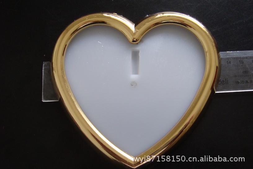 供应镀金心形镜框,ABS塑料生产,用于工艺礼品,玩具等
