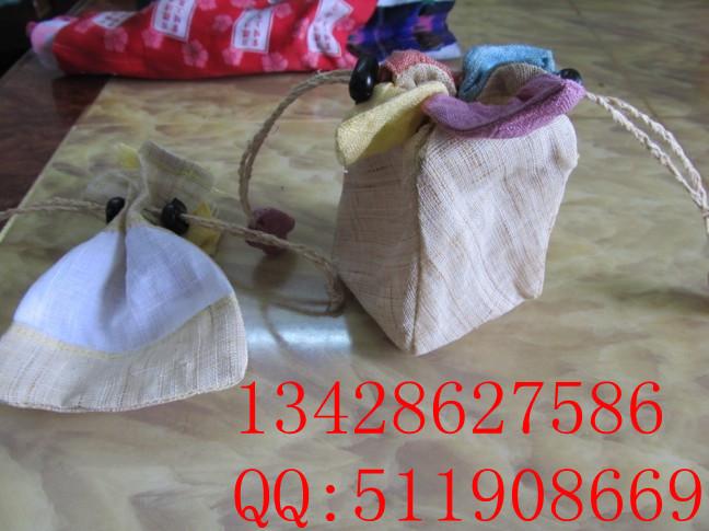 【新款推荐】中国民族风刺绣福字花香味布袋 帆布束口袋HF
