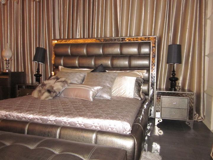 【真皮直销卡图琦后现代新古典奢华厂家床2米家具市场镇海二手图片