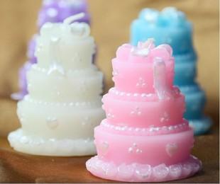 浙江义乌市厂家批发婚庆个性蜡烛 欧美流行新款蛋糕形状蜡烛 订购结婚用品