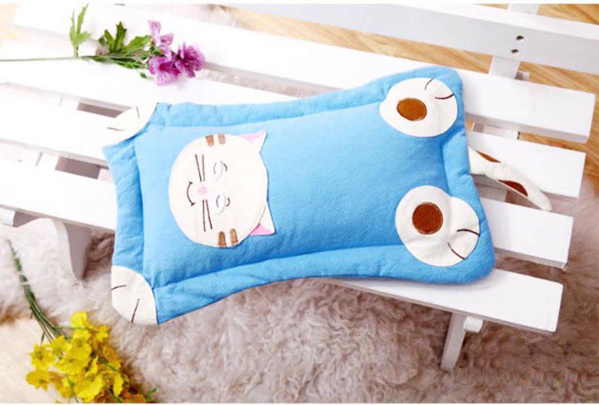 幼儿园枕头 韩国绉布卡通刺绣荞麦儿童幼儿园枕头环保健康无毒保健枕图片