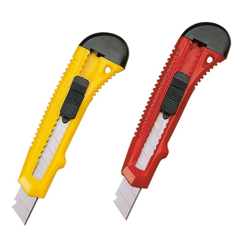 齐心便携式美工刀 B2805大号塑料介刀  al106