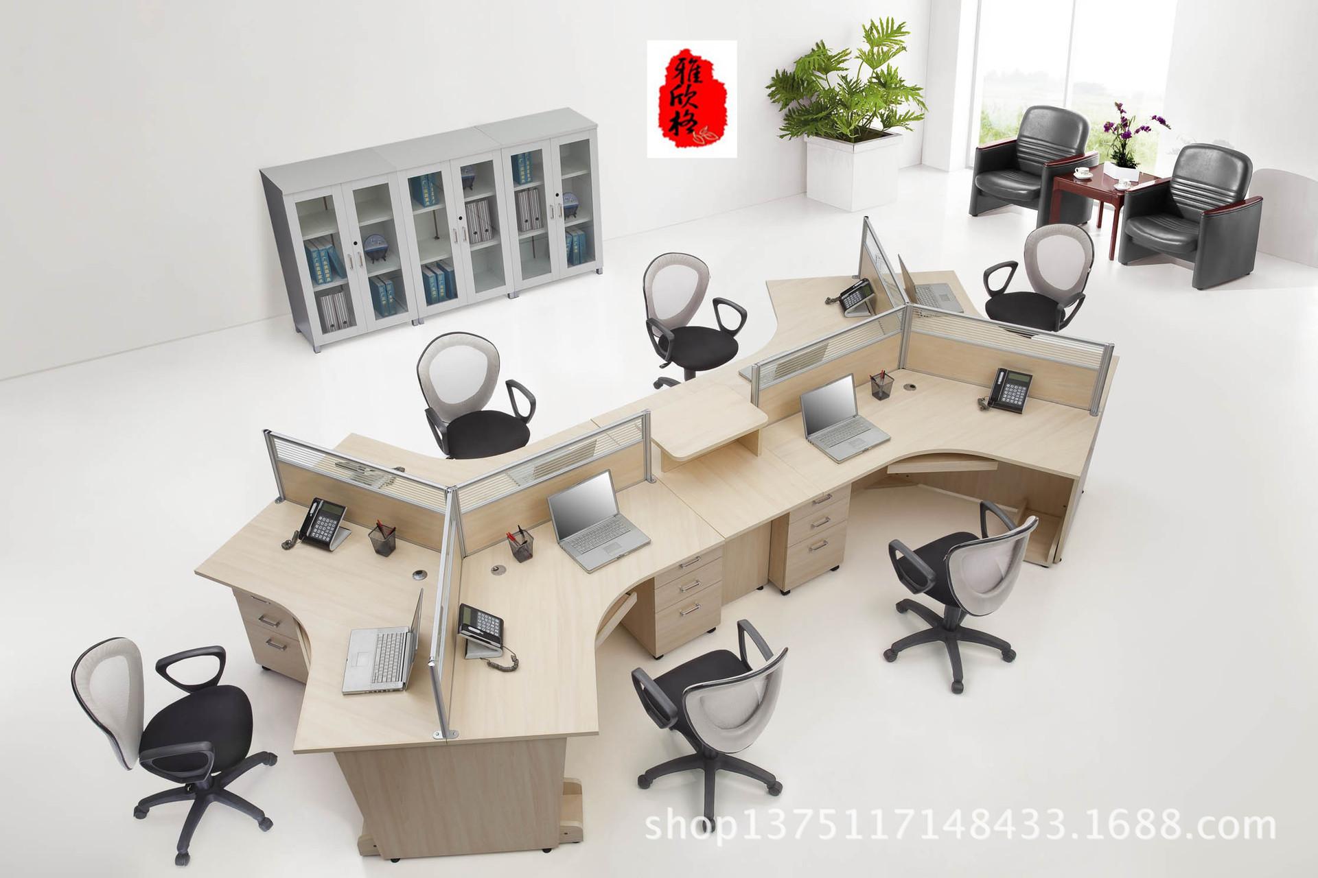 【办公广州雅欣格供应杉木可定做板式桌家具家具职员擦漆图片