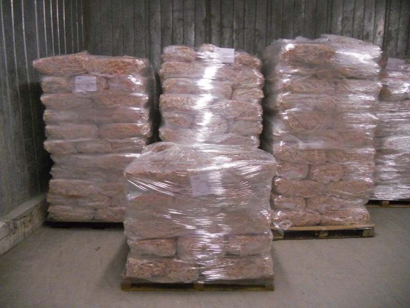 SEARA POLY BAGS ON PALLETS IN