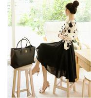 Женская юбка Elegant chiffon bust skirt chiffon full dress 2013 autumn women's 8514