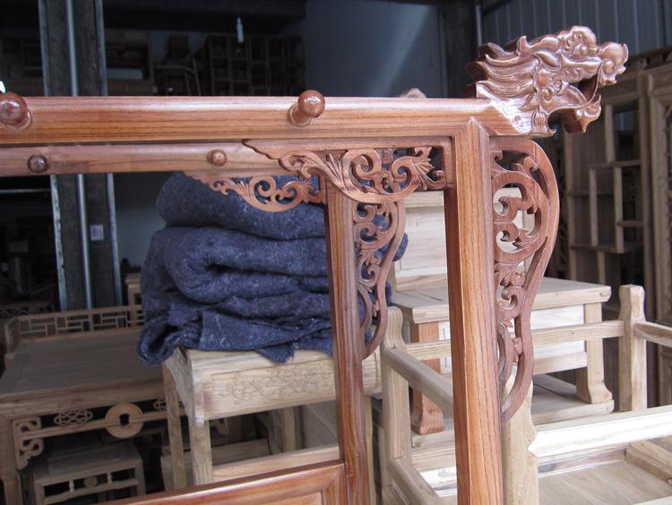 【明清古典家具实木v衣架中式挂衣架龙头衣帽架装饰家具与图片
