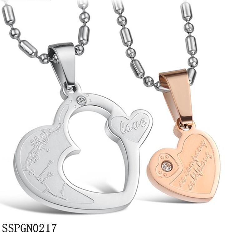 不锈钢项链 韩版时尚 情侣项链 一对特价 钛钢男