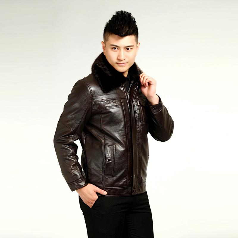 男士休闲皮夹克外套_艾伦客2012新款韩版修身立领休闲皮夹克皮衣
