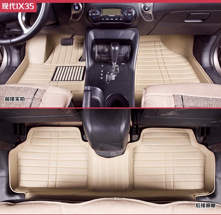 地胶 脚垫 长安CS35专用全包围脚垫后连体纯手工皮革脚垫地垫专车专高清图片