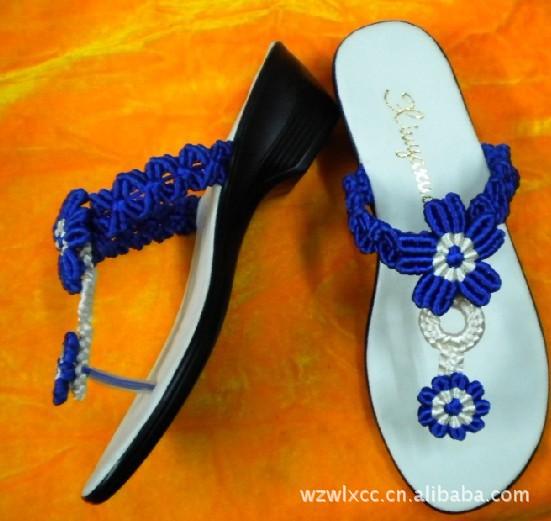 坡跟pu凉鞋底 新上市厂家直销 2533女坡跟pu凉鞋底,手工编织工艺鞋图片