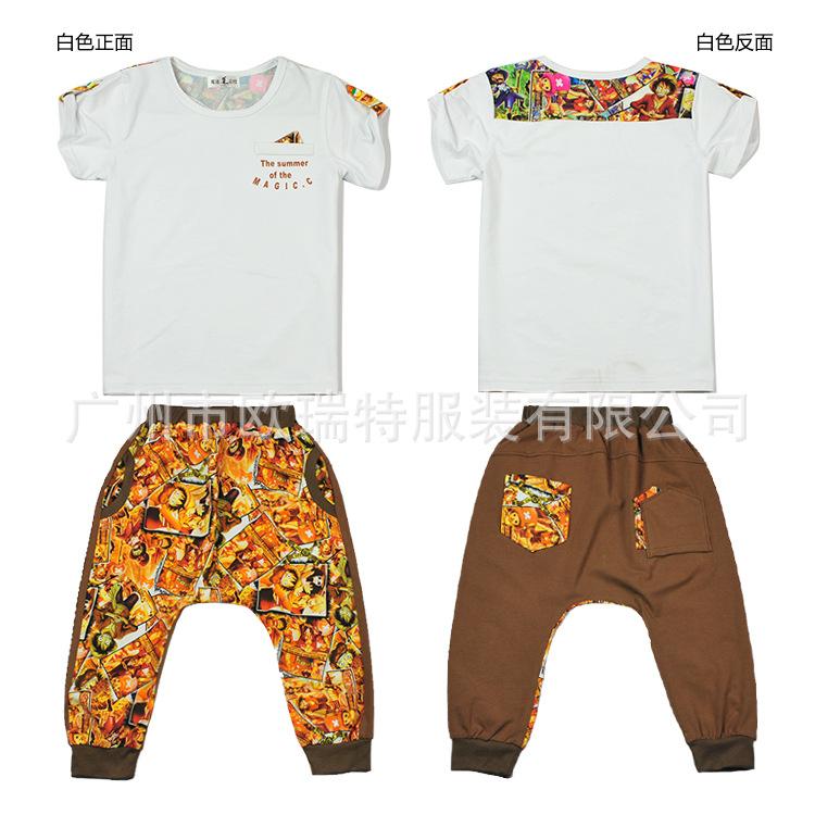 童套装 男童夏装套装2013男童装短袖夏季儿童运动套装小孩衣服韩版