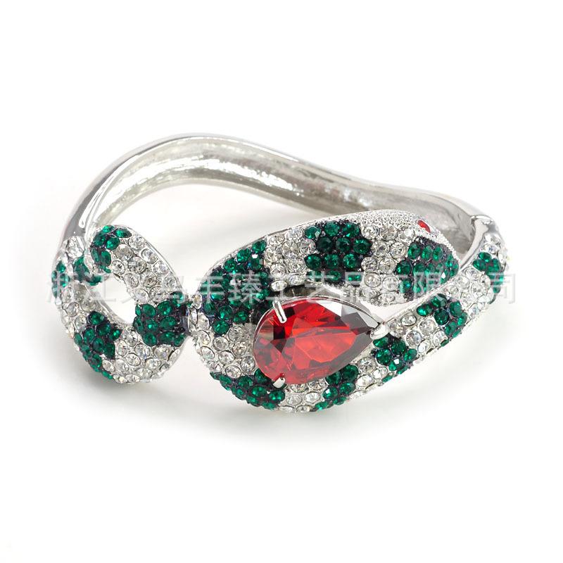 批发采购手饰-新款满钻蛇形手镯手环 个性动物