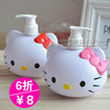 HELLO KITTY�ɰ���ԡƿ ����ѹƿ ��ͨ��Һ����װƿ ԡ��ϴ��Һƿ