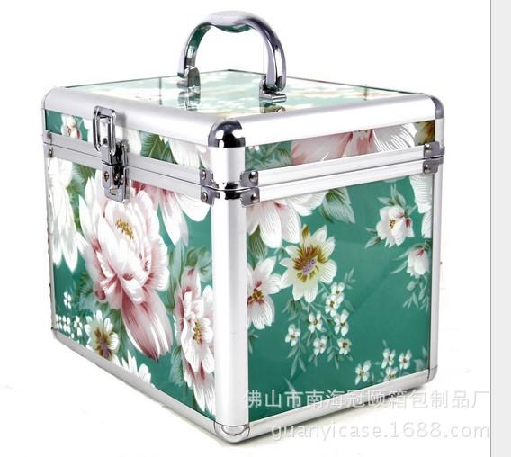 厂家供应手提单开化妆箱 专业大容量收纳箱 美甲箱