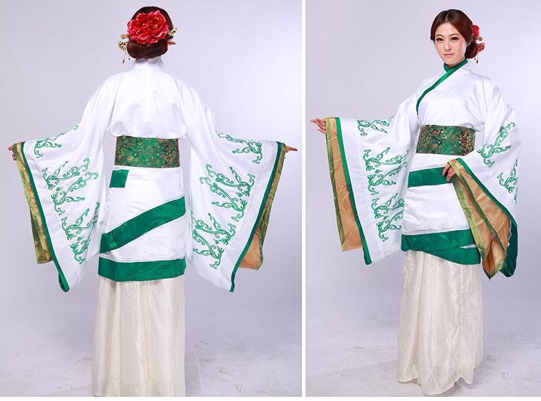 特价新品汉代服装 民族绣花曲裾 深衣演出服 汉宫服饰图片,汉服古