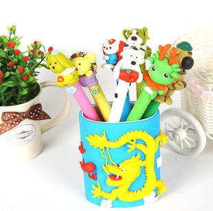 厂家直销软陶笔 批发供应 可爱软陶笔筒 手工制作 日韩国文具