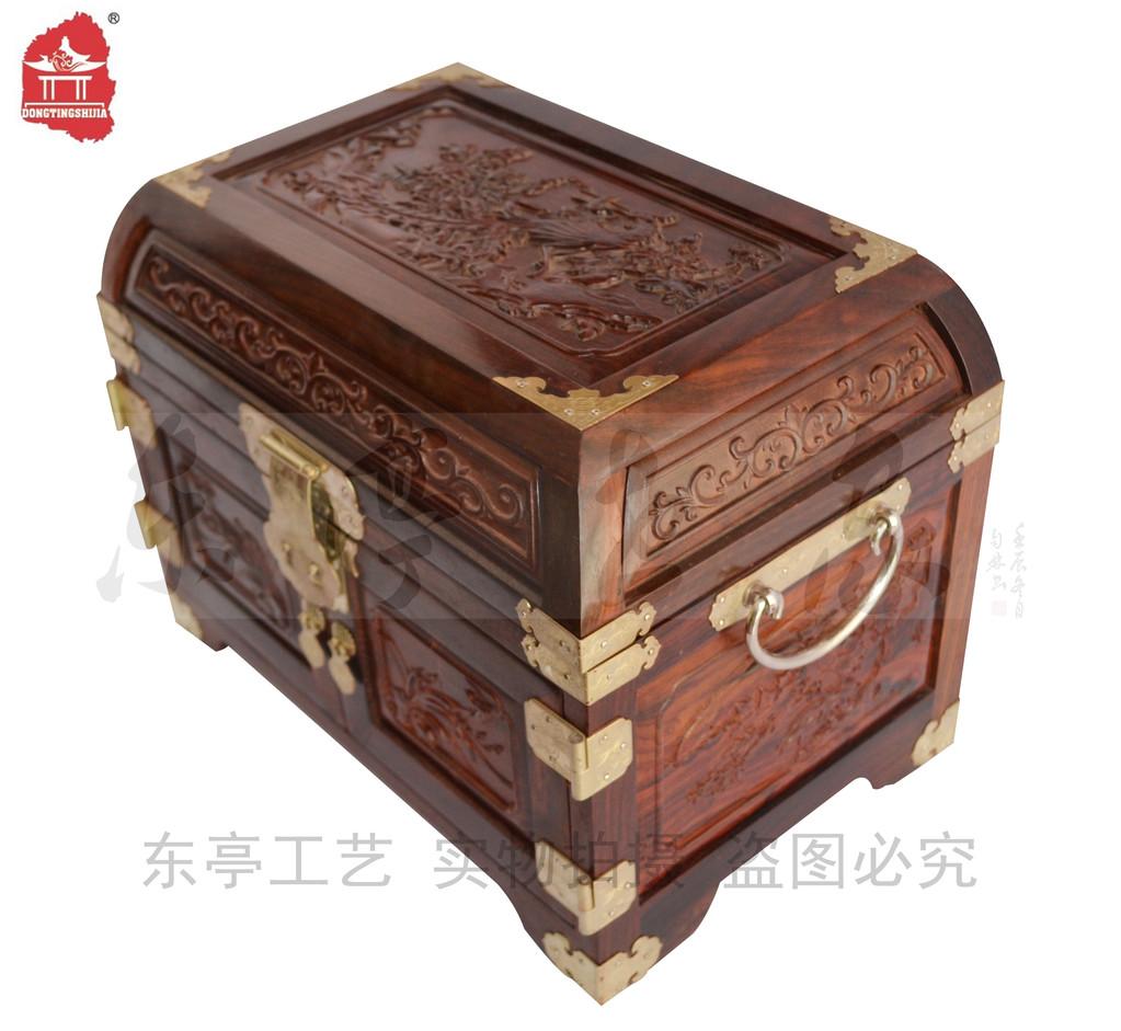 红木家具 首饰盒 官皮箱 梳妆盒 百宝箱