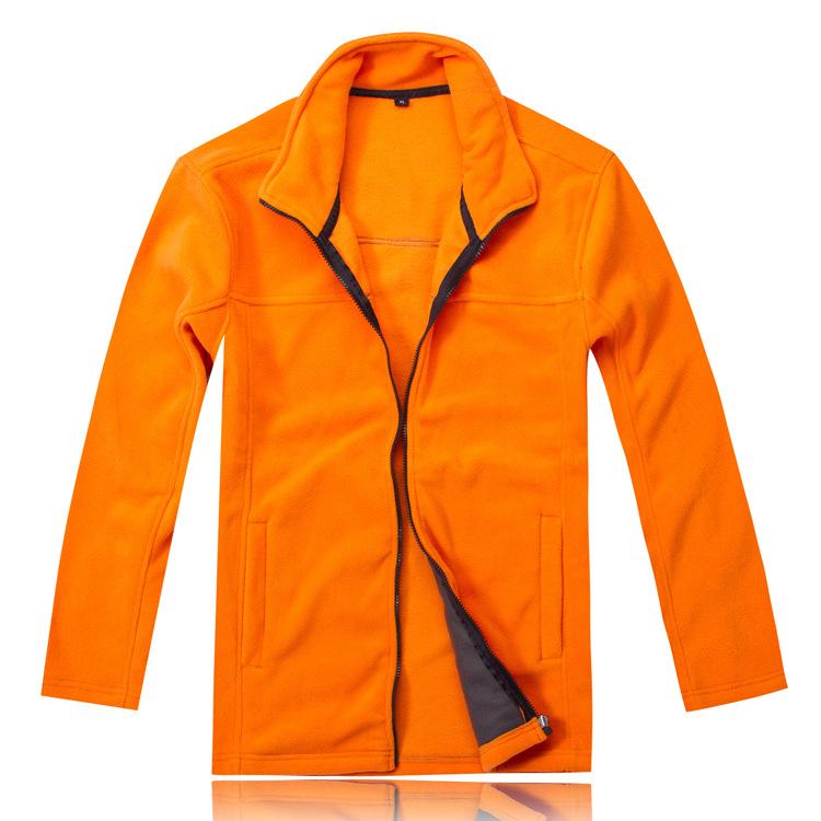 橘-多色 长袖加厚抓绒衣 保暖绒衣定做 冲锋衣内胆定做批发
