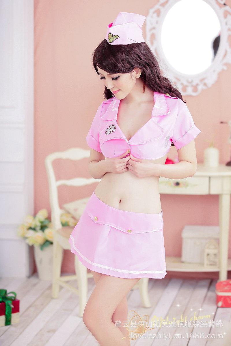 情趣内衣-套装女士美女性感v套装情趣内衣制服和睡觉富睡衣二代图片