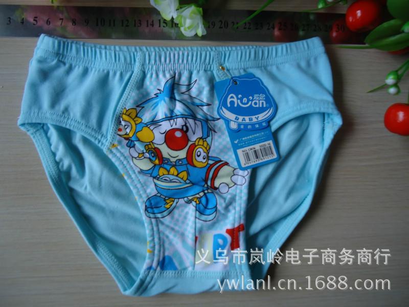 摩尔庄园内裤_【摩尔庄园】纯棉男童卡通内裤儿童内裤男孩